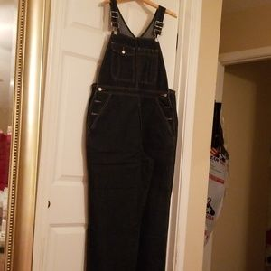 Gap dark denim overalls